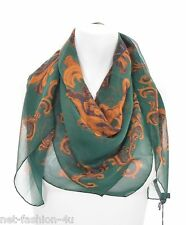 ALEXANDER McQUEEN BIG SKULL UNICORN GREEN SILK SCARF BNWT PERFECT GIFT
