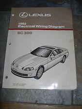 lexus sc300 manual 1992 lexus sc300 sc 300 electrical wiring diagram service manual