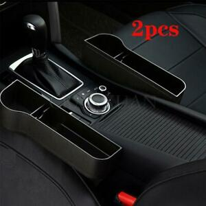 2x Car Seat Gap Catcher Organizer Storage Box Cup Holder Side Gap Filler Pockets