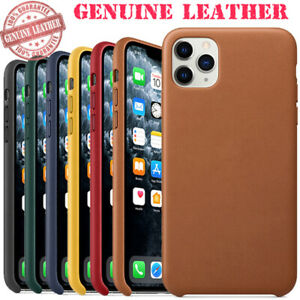 Authentic Genuine Leather Case Cover For Original iPhone 11 Pro Max XS XR 6 7 8