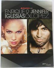 Enrique Iglesias & Jennifer Lopez 2012 Tour VIP Ticket & Autographed Poster
