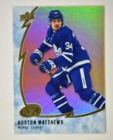 2019-20 ICE Orange Parallel #16 Auston Matthews - Toronto Maple Leafs
