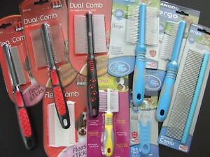 MIKKI/ANCOL DOG/CAT COMBS UNDERCOAT MATTS  MOULTING FLEA TICKS -NUTS ABOUT MUTTS