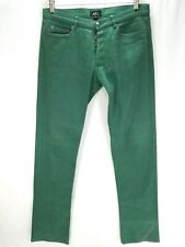 Men's A.P.C. APC Rue Madame Paris Green Jeans Button Fly Size 33