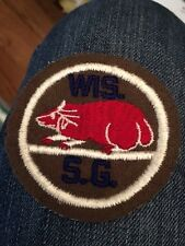 WISCONSIN STATE GUARD PATCH WW2  Embroided on Wool Felt