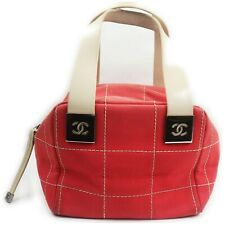 Chanel Hand Bag  Reds Canvas 1602688