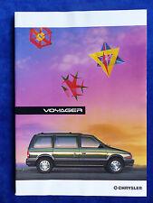 Chrysler Italien - Voyager SE / Grand Voyager - Prospekt Brochure 08.1993