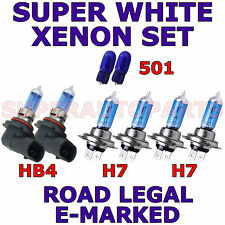 FITS MERCEDES CLK CLASS 2003-2005 SET H7  H7  HB4  501 XENON SUPER LIGHT BULBS