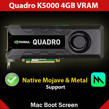nVidia Quadro K5000 4GB Video Card * Native Mojave Support w/ Mac Boot Screen *