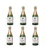 Champagne Bottles Candle Set 6 pc from Wilton #163 - New