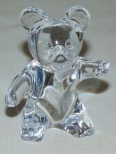 Daum French France Art Glass Teddy Bear Crystal Paperweight - signed