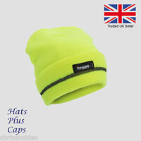 Hi-Vis knitted thermal thinsulate 3m scotchlite beanie hat