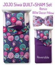 JOJO Siwa QUILT+SHAM+Decor BOW PILLOW SET Girls Twin/Full Single/Double Bed Room
