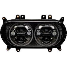 "Harley Road Glide 2015-2018 Custom Dynamics Trubeam 5-3/4"" Headlamp Kit Black"