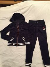 Betsey Johnson Performance Velor Track Suit, Size Small, New!