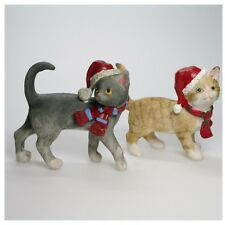 2 Cats with Christmas Hat Christmas Cat Couple Cat Christmas Hat