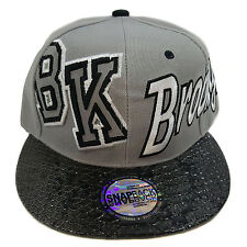 BROOKLYN Snake Skin Two Twon Grey/Black Snapback Cap