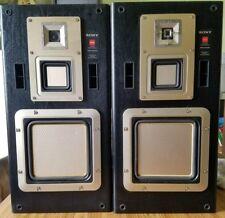 VINTAGE SONY APM-930av Speakers 300 watt ACCURATE PISTONIC MOTION ** RARE **