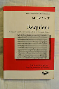 Mozart Requiem, Vocal Score - New Novello Choral Edition - condition Good