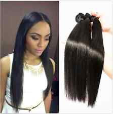 """3 Bundle 14"""" Remy Brazilian Straight Human Hair Weave Extension Total 150g Weft"""