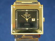 Vintage Retro Cristal Reloj Automático Caballeros Ricoh Circa 1970S nos Nunca Usado