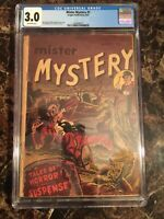 Mister Mystery 1951 #1 CGC 3.0 OW Rare Pre-Code Horror Graveyard Cover UNPRESSED