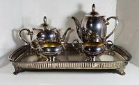 EPCA Bristol Silver #39 Tea/ Coffee Cream & Sugar Serving Set~Matching Tray