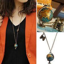 Chain Bronze Globe Telescope Pendant Necklace Sweater Chain Gift Accessories