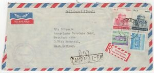 1955 Feb 16th. Registered Air Mail. Camp P.C. L-511 to Rodental, Germany.