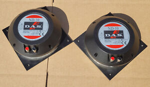 """Pair NEW DAS ND-10  1.5"""" Compression Driver Speakers ST-112"""