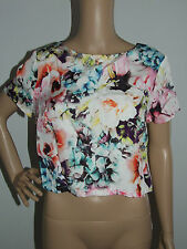 Regular Floral Crop Short Sleeve Tops & Blouses for Women