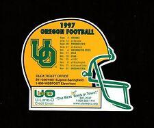 >orig. 1997 Oregon Ducks **Die-Cut FOOTBALL HELMET Magnet-Schedule** U-Lane-O