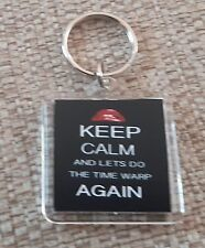 Rocky Horror - Keep calm and do the time warp again Keyring Double Sided