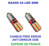 2 AMPOULES LED BMW F20 SERIE 1 BAX9S H6W 24 SMD BLANC CANBUS 12V