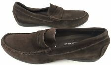 Munro American Women Shoes 7.5 N Slip On Driving Penny Loafers Flats Brown Suede