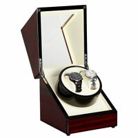 Watch Winder Box Display Wood  Organizer Case Double Luxury Double Automatic V01