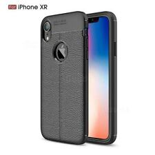 Auto Focus ShockProof Case Cover iPhone XR Phone Leather Design Back Cover Black