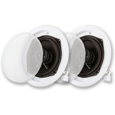 Acoustic Audio R-191 In Ceiling Speaker Pair 2 Way Home Theater Surround Sound
