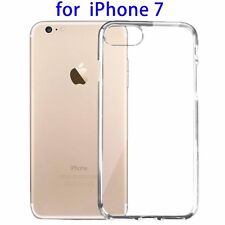 For Apple iPhone 7 Plus Case Silicone Clear Cover Bumper Gel Transparent