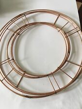 2x8 Inch Copper Wire Ring  Xmas And All Wreath Making Crafts