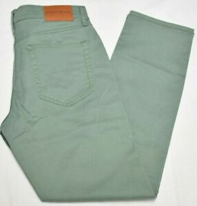 Lucky Brand Jeans Men's 31x30 121 Slim Straight Coolmax Stretch Pants Green Q601