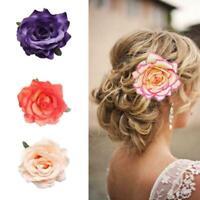 Accessoire cheveux  fête mariage de broche d'épingle à cheveux de fleur rose