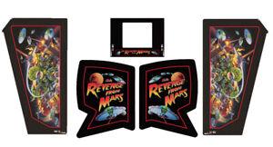 Revenge From Mars Pinball Machine CABINET Decal Set