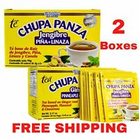 2 PACK Chupa Panza Detox Ginger Tea 60 Day Supply Te Chupa Pansa de Jenjibre...