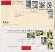 More details for u4922 greece 12 different express multi-stamped covers uk usa; 1970s - 1990s