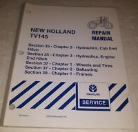 New Holland TV145 Tractor Repair Service Manual Section 35 37 39 Free Shipping