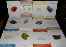 SEALED BRAND NEW! CRYSTAL INTENTIONS GEMSTONE CARDS & BOOK ORACLE CHAKRAS COLOR