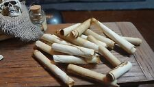 Dollhouse Miniature Lot of 11 Hand Aged Scrolls Untied Loose Witch Wizard