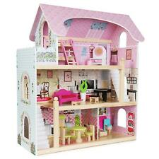boppi 3 Floor Wooden Toy Dolls House with 16 Furniture Accessories New