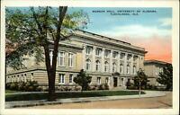 Morgan Hall ~ University of Alabama ~ Tuscaloosa Alabama ~ 1920s unused postcard